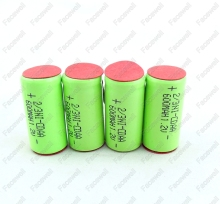 10pcs Battery 1.2v 2/3 AA nicd rechargeable 2/3aa 600mah NI-CD aa 2/3 batteries for electric shaver battery 1.2v ni cd toys 12v