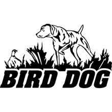 16CM*9.2CM Bird Dog Hunting Pheasant Duck Car Boat Car Stickers Decoration Car Stylings Black Sliver C8-0407(China)