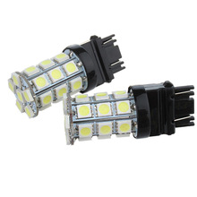 1pcs 3157 3156 car light Source 27 SMD 5050 Chips P27/7W led High Power P27W led car bulbs Brake White Lights Red Parking