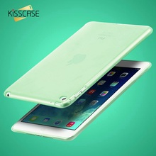 KISSCASE Smooth TPU Soft Transparent Clear Case Cover Skin Protector for Apple iPad Mini 1 2 3 Tablet Bags Slim Housing