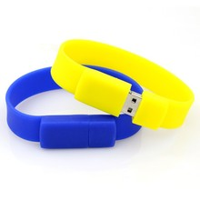 3 Colors Wristband Bracelet usb pen 64GB 32GB 16GB 8GB 4GB Artificial Wristband gift USB Flash Drive Memory Stick