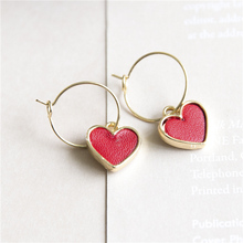 2017  Korea Fashion cute princess girl  earrings love shape long earring fashion jewelry gift vintage pendent for women