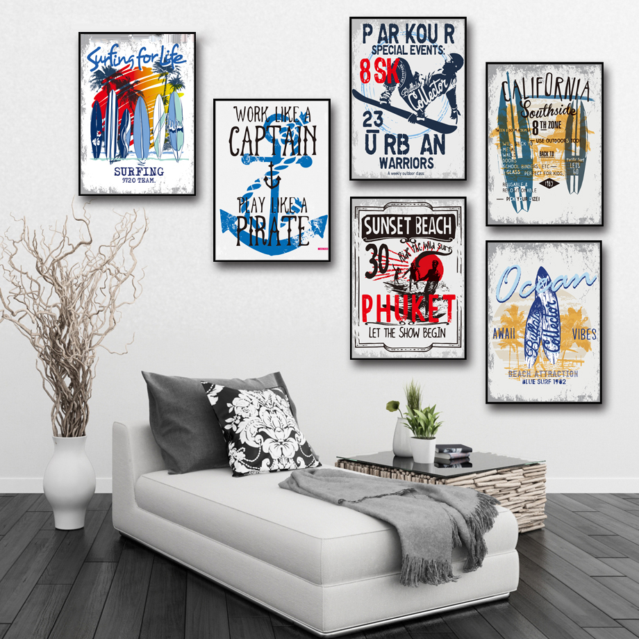 AFFLATUS-Nordic-Pop-Surfing-Landscape-Canvas-Poster-Wall-Pictures-Canvas-Painting-Art-Print-Wall-Painting-ing