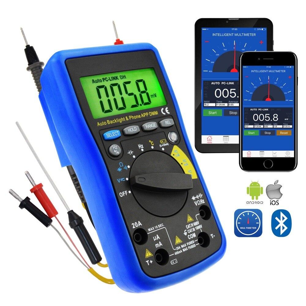 Цифровой мультиметр DMM Bluetooth с мобильным приложением iOS и Android AC DC напряжение
