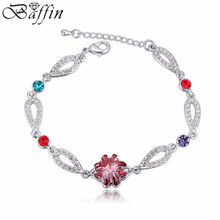 2016 New Charm Bracelets Original Crystals From Swarovski Elements Trendy love Multi-layer Pulseras Women Jewelry