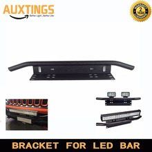 Universal Mounting Brackets Bull Bar Bumper Front License Plate Mount Holder Bracket For Off Road Work Light Led Bar Driving(China)