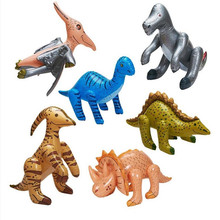 6 PCS/Set Jurassic Park Inflatable Dinosaur Inflated Dinosaur Model Stage Props Children Birthday Party Favor Theme Party supply