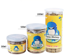 1000ml aquarium fish food brine shrimp dry feed low temperature quick freeze drying process for fish tank(China)