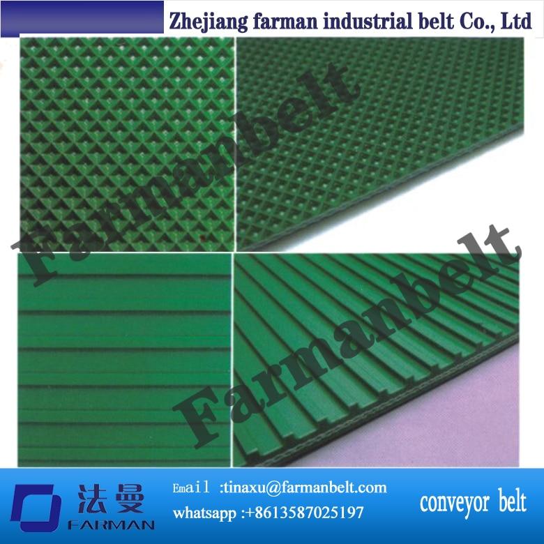 Beer industry rough surface green PVC Conveyor Belt<br>