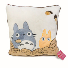 Anime My Neighbor Totoro Pillow Cushion Plush Toys Kawaii Totoro Car Comfort Relax Travel Soft Rest Cushion Dolls 1pc(China)
