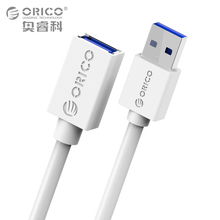 ORICO USB3.0 AM to AF Round / Flat Extension Cable 1.0/1.5 Meter Black/White for SB Keyboard, Mouse, U-disk,Card Reader and more