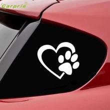 CARPRIE First-rate  HEART with DOG PAW Puppy Love Decal Window Sticker for Cars Walls 1 piece