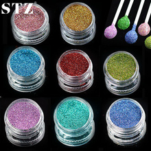 STZ 1 bottle Laser Sequins Dust Tips Nail Art Glitter Powder Dust Tips for Body Craft Polish  Salon 3d Nail Art Decors L01-16