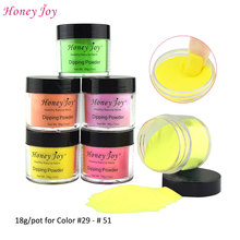 New Arrival Colors 18g/Box Dipping Powder Naturally Dry Without Lamp Cure Nails Dip Powder Summer Gel Nail Color Powder