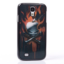 AMAZE 3D MOVIE EFFECT burn blood skull for apple scar iron net PC Hard Back Shell Cover protect Case For Samsung GALAXY S4 i9500(China)