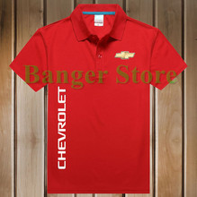 Free Shipping New Brand Summer women and men's Chevrolet car logo Polo Shirt Short-sleeved Fashion Casual Shirt