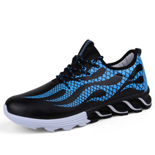 2017 Hot Sell Men Brand Athletic Shoes Blue/White Running Shoes Adult Breathable Walking Jogging Sneakers Cheap Mens Trainers