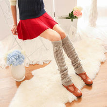 HOT Sale 6 Colors Lady's Brand New Lovely Knitting stockings Warm Long Hose For Woman(China)