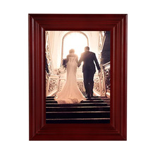 Various Sizes Wooden Photo Frames Wall vintage picture frames Cherry Photo Frame Cheap with High Quality(China)