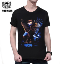 Rocksir 3D men t-shirt 2017 fashion the eagle hunt print tee shirt summer homme cool black streetwear brand tops plus size XXXL(China)
