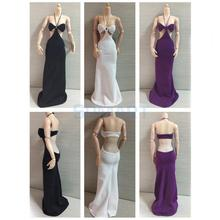 1/6 Scale Halter Neck Long Dress Formal Skirt Clothes Clothing Fit for 12'' Female Figure Body Accessories