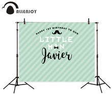 Allenjoy photography backdrop Blue stripes boys cute birthday customize background newborn original design for photo studio(China)