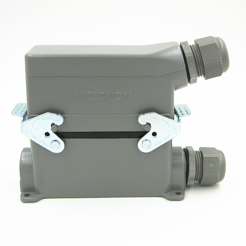 HDC-HE-024-3 Heavy Load Connector 24 Core 16A Rectangle High Pin Ming Heat Flux Avenue Plug<br>