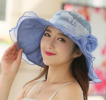 Free shipping American threed Girls tuiguang Summer silk sun hat, outdoor fashionable lace, sun hat, ladies hat, Beach Hat<br>