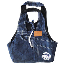 Dog Cat Carry Denim Bag Sling Carrier Small Pet Puppy Purse Bags Carriers Backpack.2 colours(China)