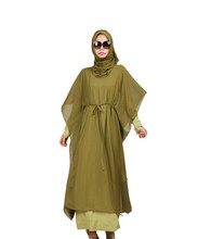 muslim women dress djellaba casual abaya plus size caftan cotton long dress turkish Arab traditional clothing KJ150210