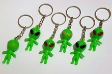 100X Wholesales Key Ring Alien Vintage Charm Fashion Favour Pinata School Bag Birthday Party Favors Gift Novelty Birthday Prize