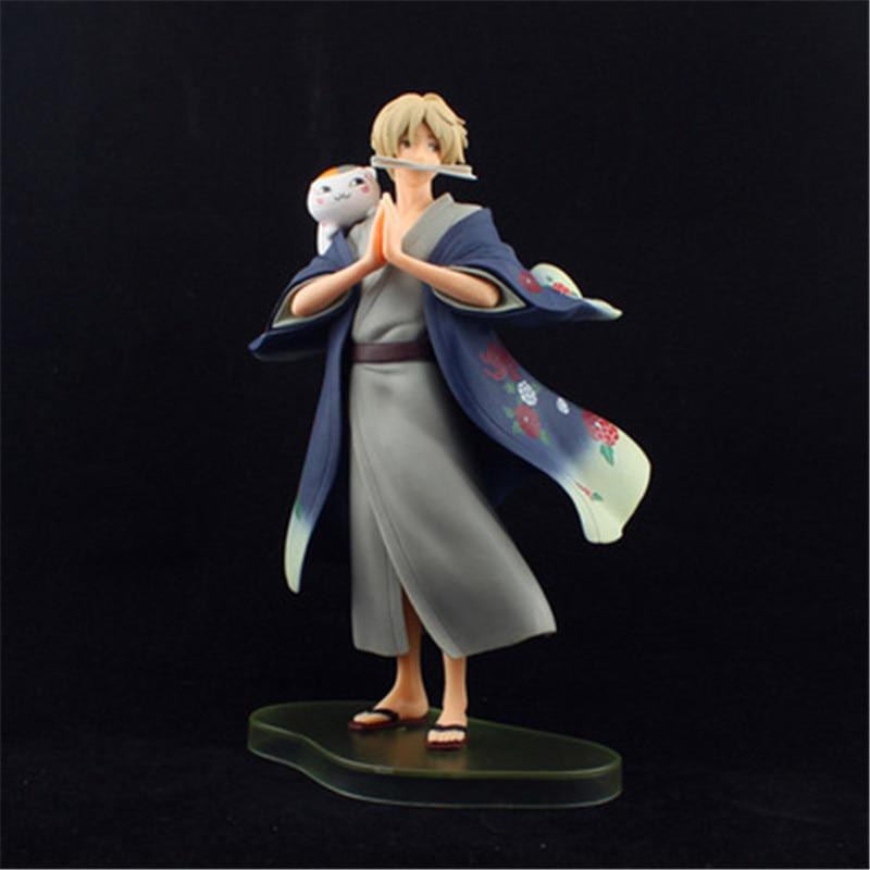 Anime Natsume Yuujinchou Nyanko Sensei Takashi Cat Neko PVC Action Figure Model Toys Cute Figuras Dolls Gift 20cm  (15)