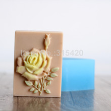 Sale Nicole Rose Flower Easy Unmold Silicone Natural Soap Mold Jelly Pudding Mould Chocolate Candy Forms
