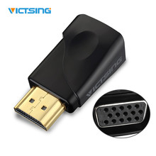 VICTSING HD 1080P Gold-plated HDMI to VGA Converter Adapter Connecter with 3.5mm Audio Port For PC, Laptop, DVD, Desktop,TV BOX(China)