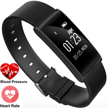 SGN108 0.96inch OLED Blood Oxygen Blood Pressure Silver Black Gold Heart Rate Sleep Monitor Smart Exercise Plan Wristband