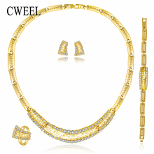 African Beads Jewelry Sets For Women Wedding Party Fashion Gold Color Choker Costume Vintage Dubai Accessories jewellery