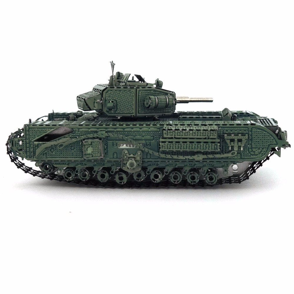 Color Churchill Tank 3D DIY Stereoscopic Metal Puzzle Nano-dimensional Assembling Model Birthday Gift Decoration Collection Toy 4