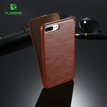 FLOVEME PU Leather Flip Case For Apple iPhone 6 6s 7 Plus Case PU Luxury Vertical Fashion Cover For iPhone 7 6 6s Plus 5 5s Case