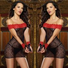 Women's Sexy Lace Underwear Lingerie Babydoll Sleepwear Dress Chemise G-String