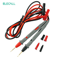 ELECALL A-18 J PVC Needle Tip Probe Test Leads Pin Hot Universal Digital Multimeter Multi Meter Tester Lead Probe Wire Pen Cable