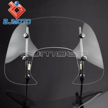 New Motorcycle Scooter Flyscreen Windscreen W/ Screws For VESPA SPRINT150 Flyscreen(China)