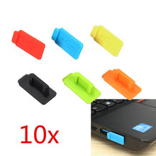 LEORY 10pcs Colorful Rubber Silicon Protective Dustproof USB Plug Cover Stopper AntiI Dust Stopper For PC Computer Laptop TV BOX(China)