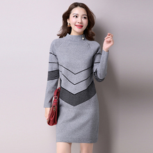 Buy 2017 Korean Fashion Women Warm Knitted Sweater Dresses Autumn Winter Female Half Turtleneck Long Sleeve Sexy Mini Knitwear for $31.80 in AliExpress store