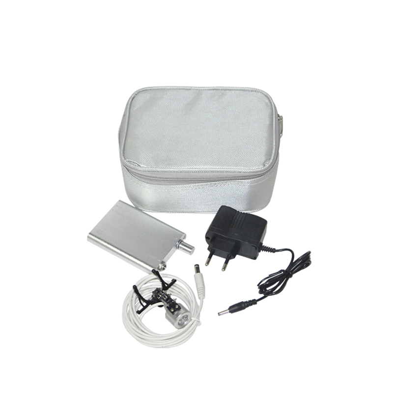 Portable Silver Head Light Lamp for Dental Surgical Medical Binocular Loupe+Case<br>