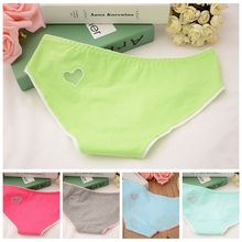 1 pcs Ladies  Heart Shaped Panties Hollow Out Underwear Women Low Waist Panties Cotton Briefs #1688