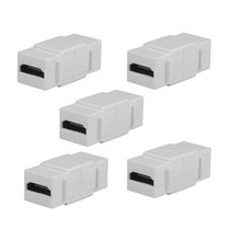 LBSC 5-PACK HDMI Keystone Jack Female Coupler Insert Snap-in Connector Socket Adapter Port For Wall Plate Outlet Panel - White