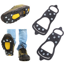 1 Pair 8 Studs Winter Walking Cleat Ice Gripper Anti Slip Ice Snow Walking Shoe Spike Grip Travel Camping Climb Ice Crampon Ice