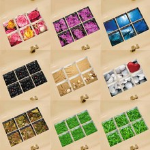 6/Pcs 3D Anti Slip Waterproof PVC Bathtub Sticker Decor Decals Muti-choose bathroom sticker wall stickers drop ship sale 13x13cm