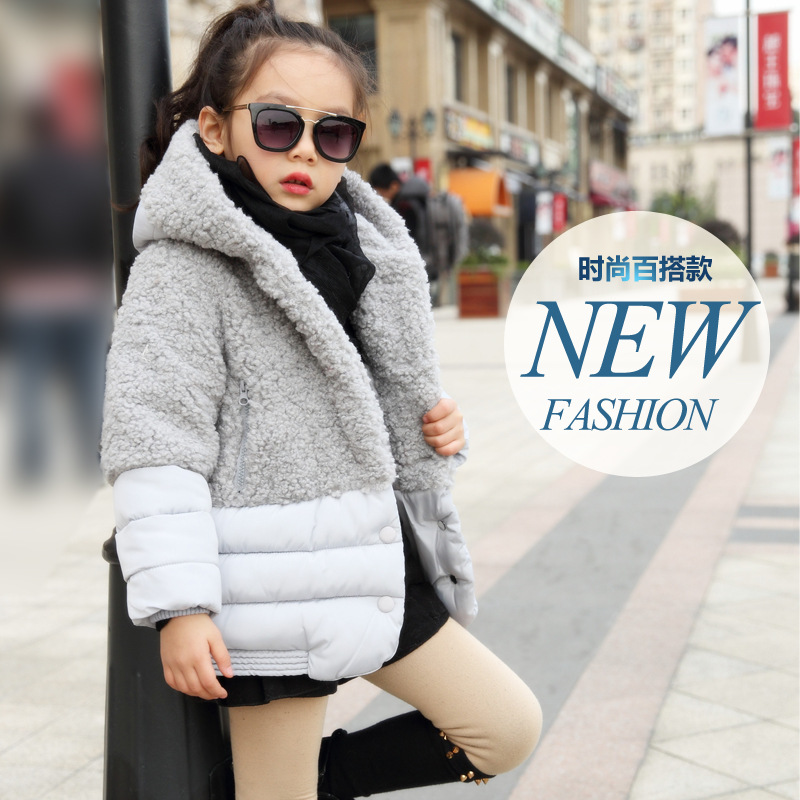 The winter of 2017 childrens wear Faux fur coat of the girls baby grey cotton blouse children<br><br>Aliexpress