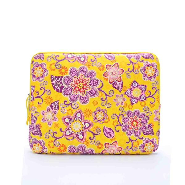 pu retro yellow flower Laptop Sleeve Case for macbook air 13 pro retina 13 Computer Bag for 13.3inch tablet with two pocket<br><br>Aliexpress